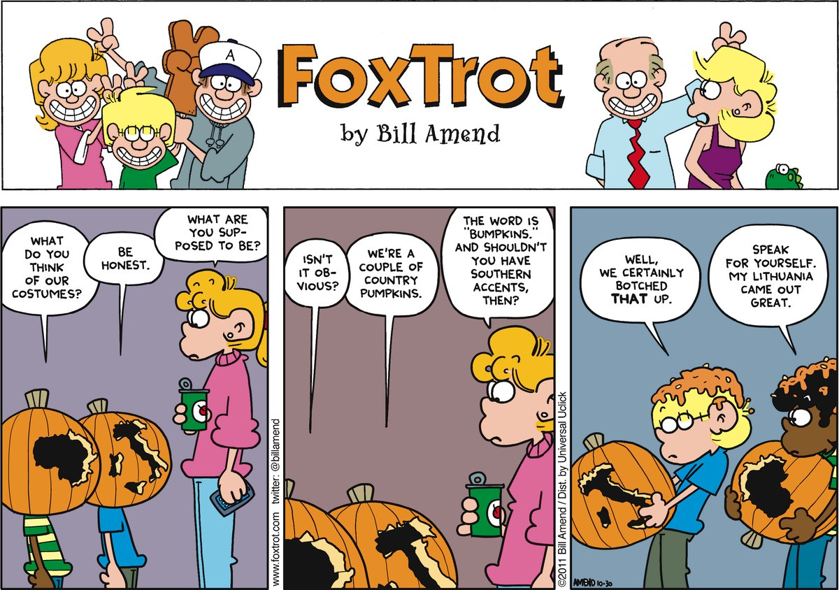 FoxTrot for Oct 30, 2011 Comic Strip