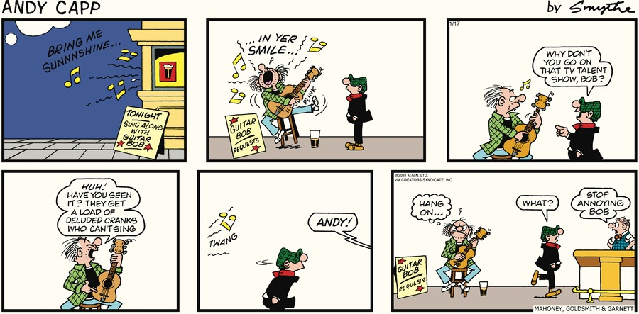 Andy Capp Comic Strip for January 17, 2021