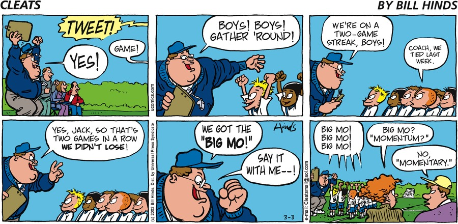 Cleats Comic Strip for March 03, 2002