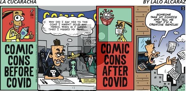 La Cucaracha on Sunday July 4, 2021 Comic Strip