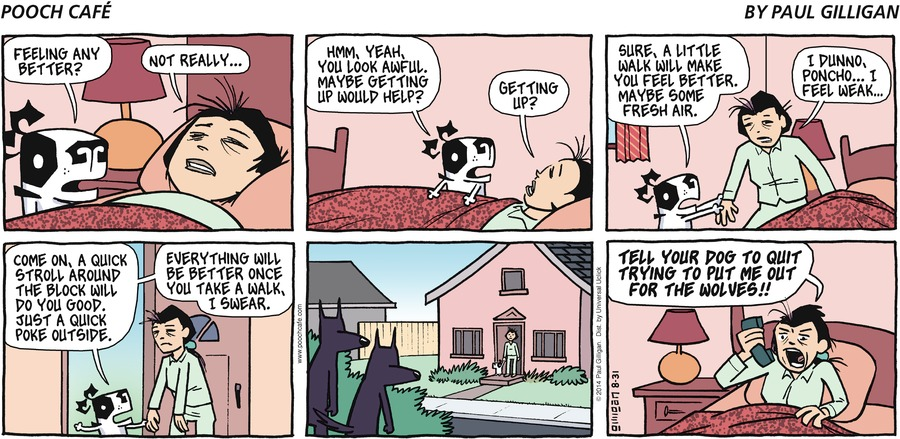 Pooch Cafe Comic Strip for August 31, 2014