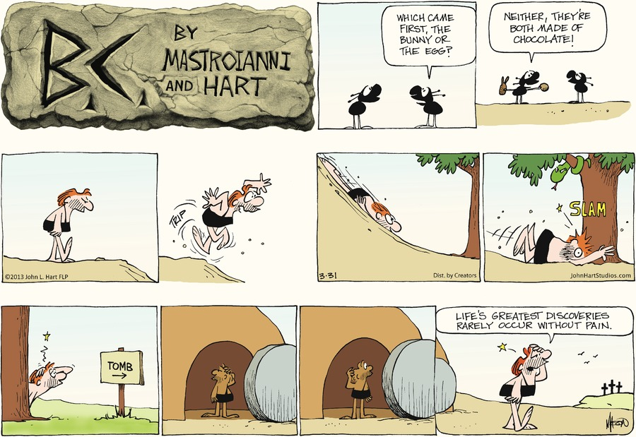 B.C. Comic Strip for March 31, 2013