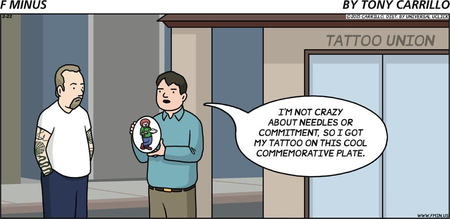 F Minus Comic Strip for February 22, 2015