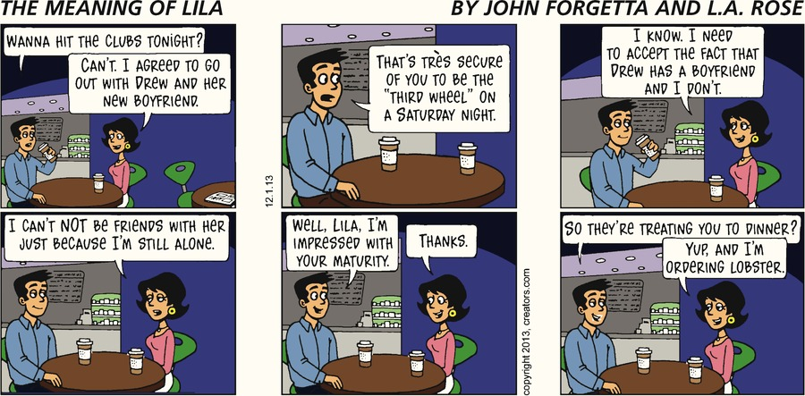 The Meaning of Lila for Dec 1, 2013 Comic Strip