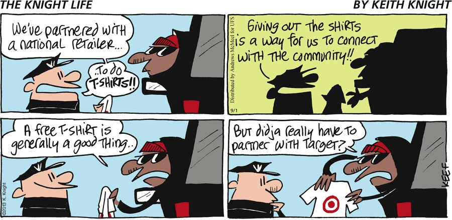 The Knight Life Comic Strip for September 01, 2019