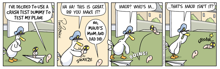 Ollie and Quentin for Feb 19, 2013 Comic Strip