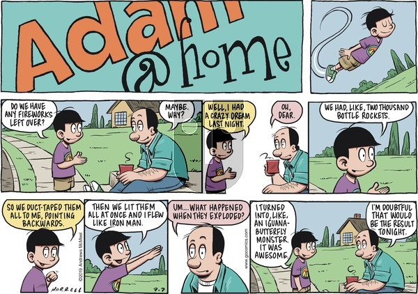 Adam@Home on Sunday July 7, 2019 Comic Strip