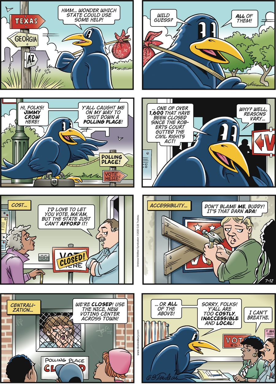 Doonesbury Comic Strip for July 12, 2020