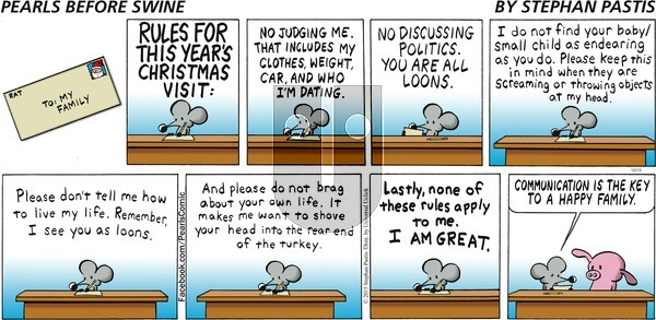 Pearls Before Swine on Sunday December 13, 2015 Comic Strip