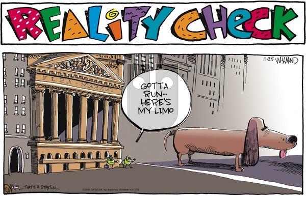 Reality Check on Sunday November 25, 2018 Comic Strip