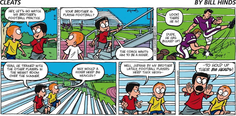 Cleats Comic Strip for August 28, 2005