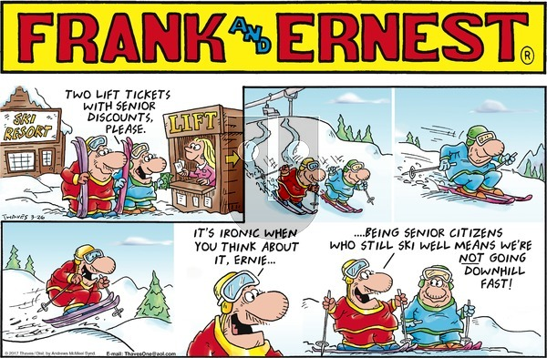 Frank and Ernest on Sunday March 26, 2017 Comic Strip