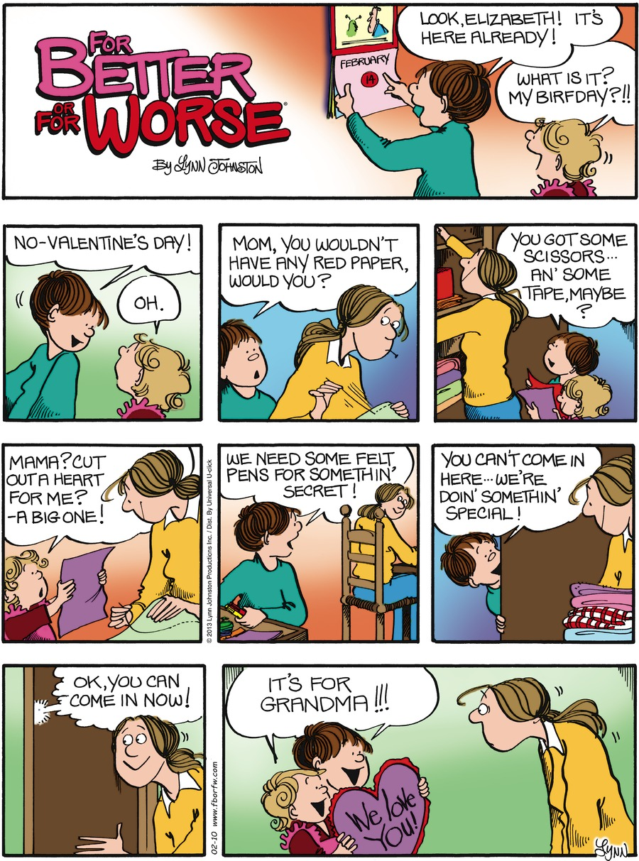 For Better or For Worse Comic Strip for February 10, 2013