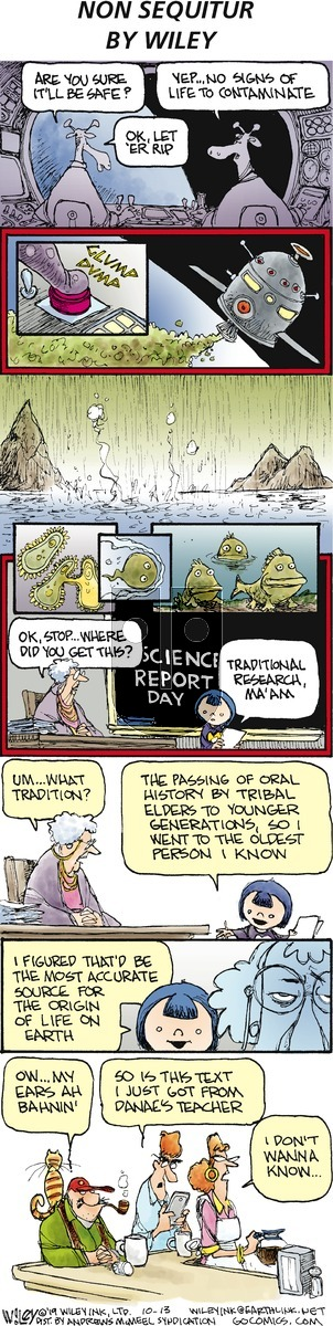 Non Sequitur on Sunday October 13, 2019 Comic Strip