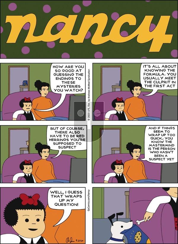 Nancy - Sunday September 27, 2020 Comic Strip