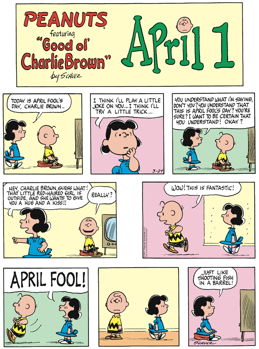 Peanuts Comic Strip for March 29, 2020