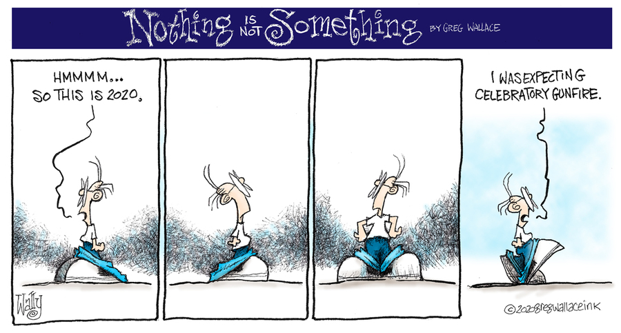 Nothing is Not Something Comic Strip for January 01, 2020