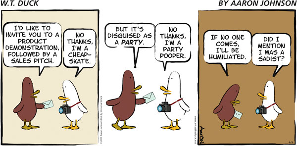 W.T. Duck Comic Strip for January 06, 2019