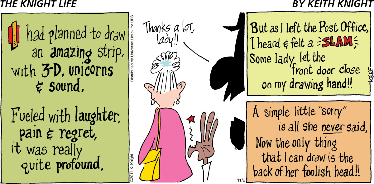 The Knight Life Comic Strip for November 06, 2011