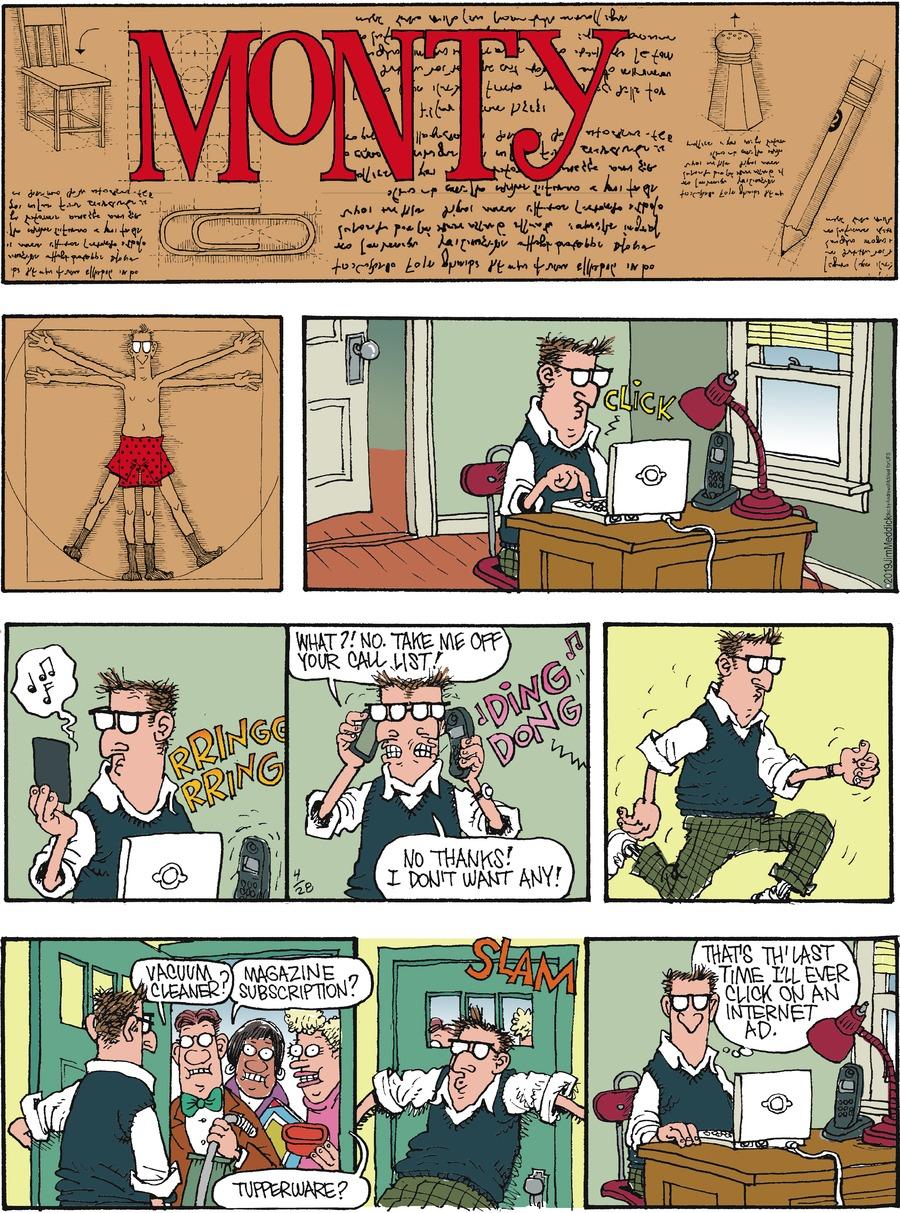 Monty Comic Strip for April 28, 2019