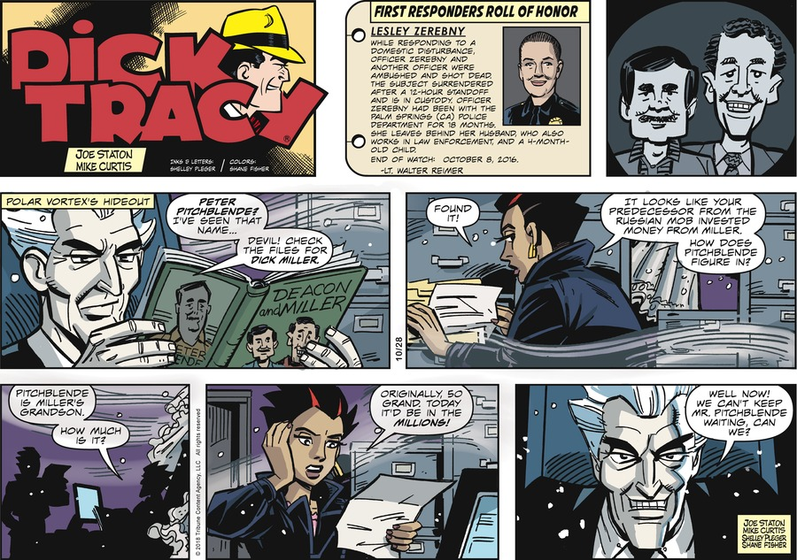 Dick Tracy Comic Strip for October 28, 2018