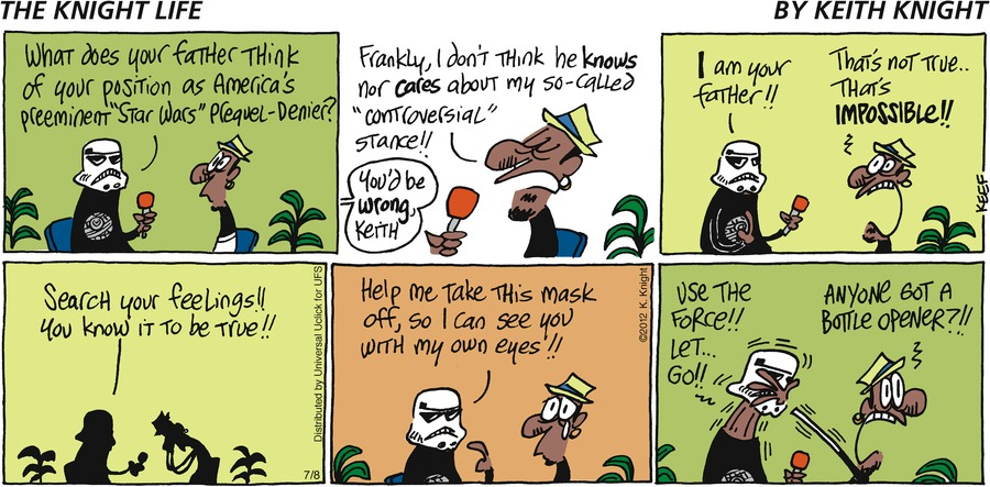 The Knight Life Comic Strip for July 08, 2012