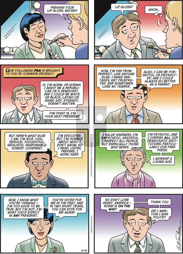 Doonesbury on Sunday June 10, 2018 Comic Strip