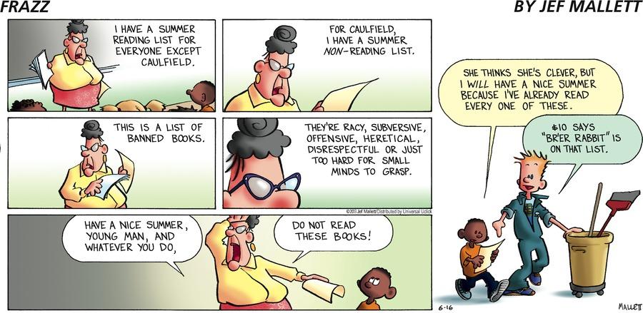 Frazz Comic Strip for June 16, 2013