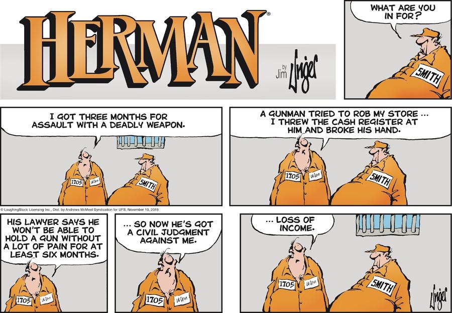 Herman Comic Strip for November 10, 2019