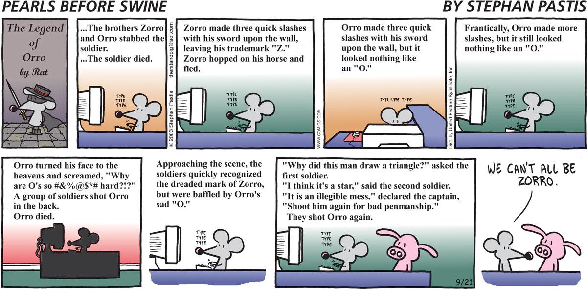 Pearls Before Swine Comic Strip for September 21, 2003