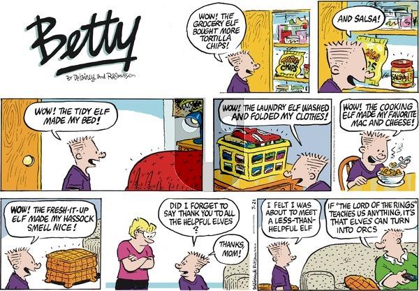 Betty - Sunday July 21, 2019 Comic Strip