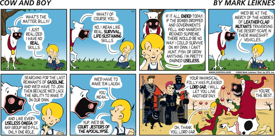 Cow and Boy Classics Comic Strip for August 13, 2006