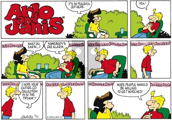 Arlo and Janis on Sunday May 10, 1998 Comic Strip