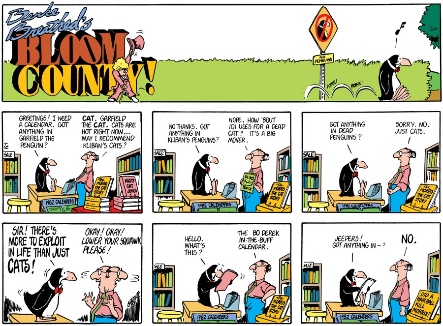Bloom County Comic Strip for August 28, 2017