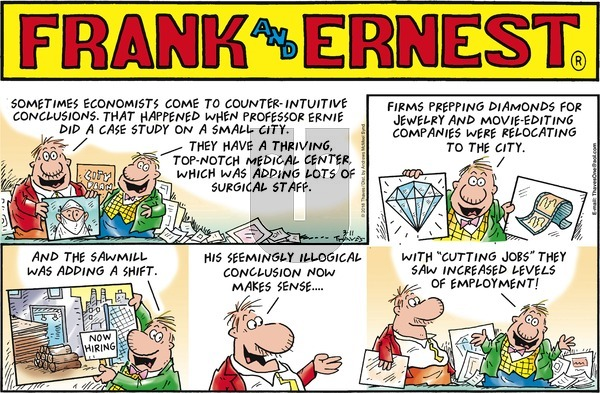 Frank and Ernest on Sunday March 11, 2018 Comic Strip