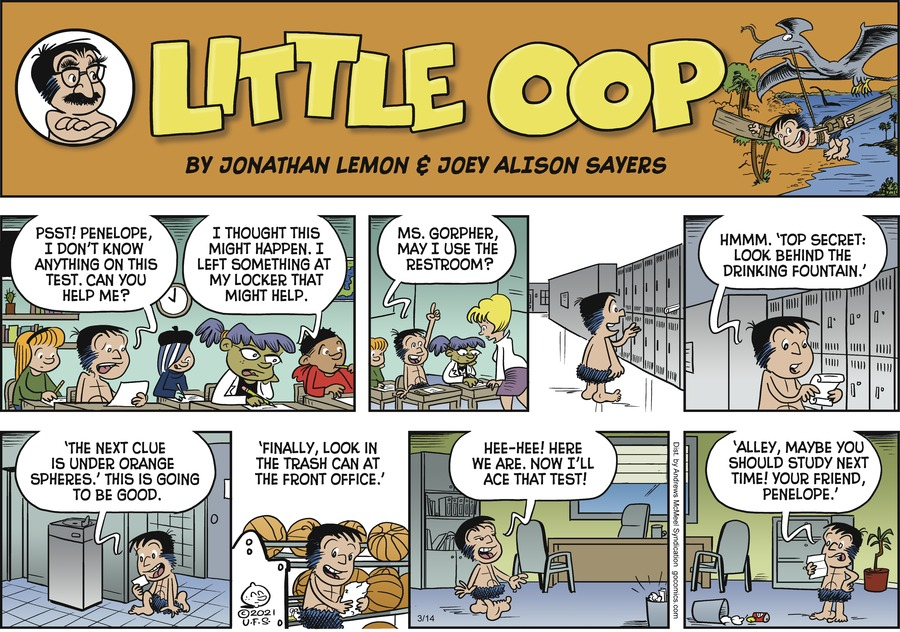 Alley Oop Comic Strip for March 14, 2021