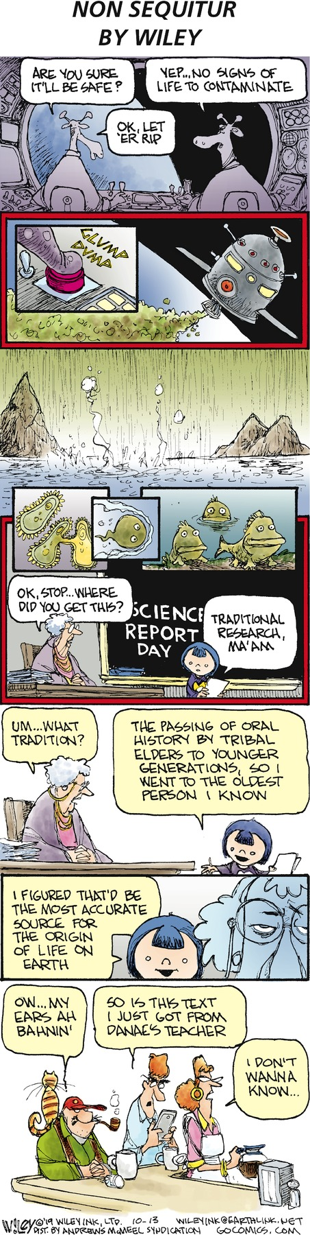 Non Sequitur Comic Strip for October 13, 2019