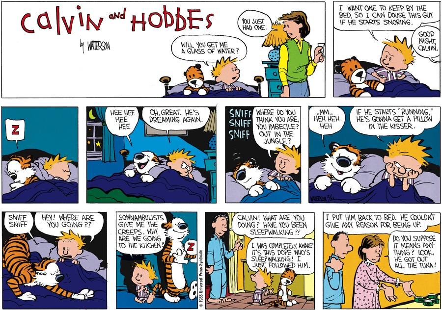 Calvin and Hobbes Comic Strip for April 03, 1988