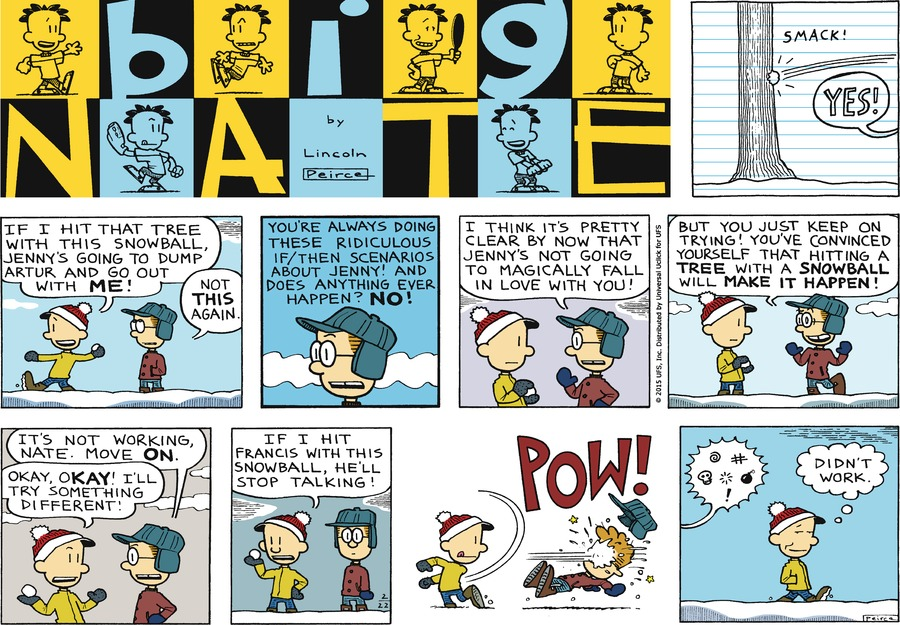 Big Nate Comic Strip for February 22, 2015