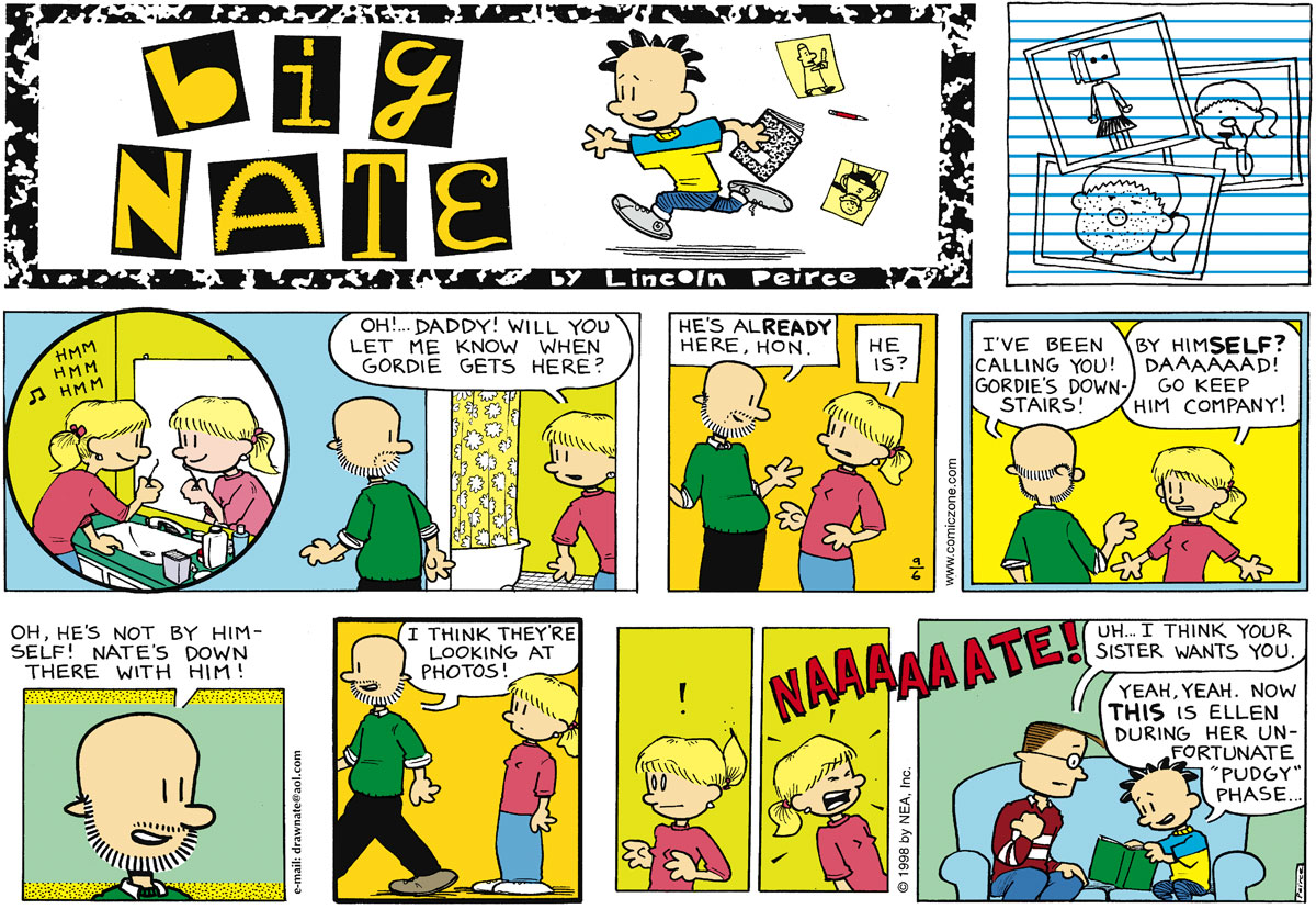 Big Nate Comic Strip for September 06, 1998