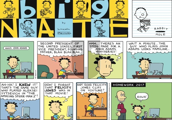 Big Nate on Sunday December 10, 2017 Comic Strip