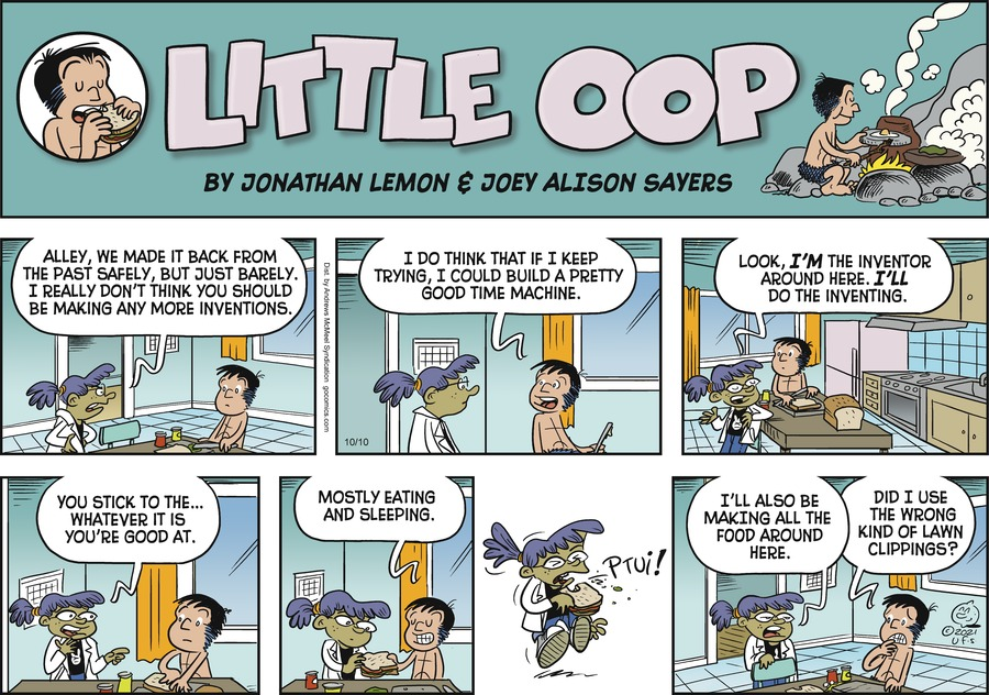 Alley Oop by Jonathan Lemon and Joey Alison Sayers on Sun, 10 Oct 2021