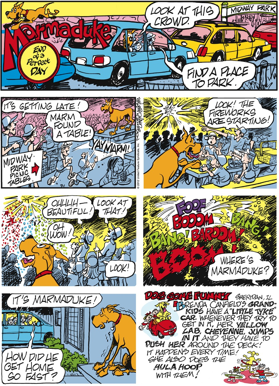 Marmaduke Comic Strip for July 01, 2012