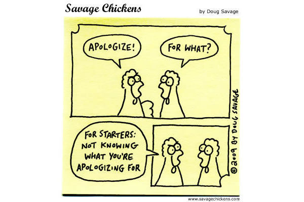 Chicken 1: Apologize! 