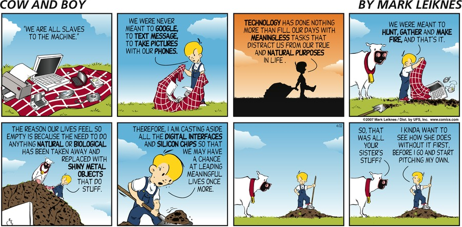 Cow and Boy Classics for May 4, 2014 Comic Strip