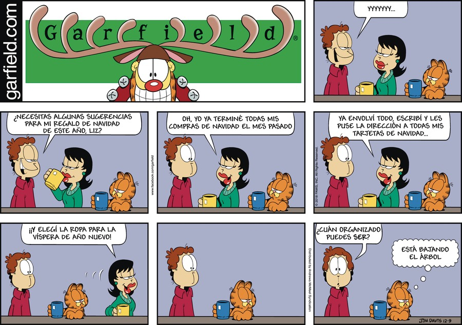 Garfield en Español by Jim Davis for December 09, 2018