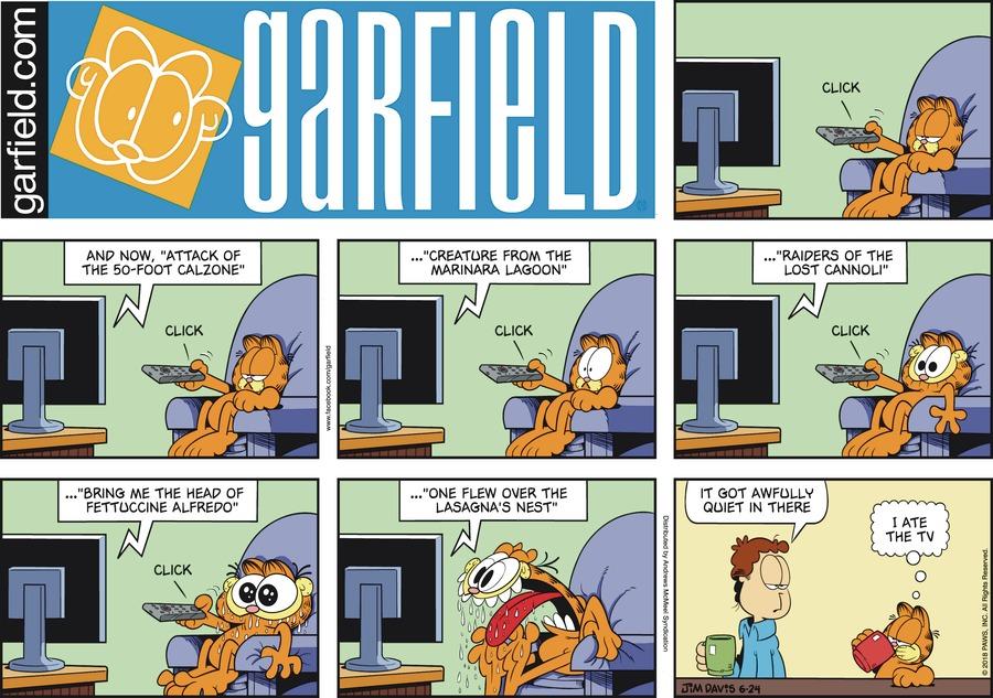 Garfield Comic Strip for June 24, 2018