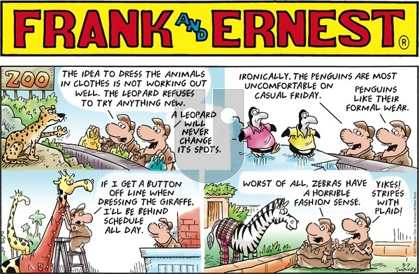 Frank and Ernest on Sunday March 7, 2021 Comic Strip