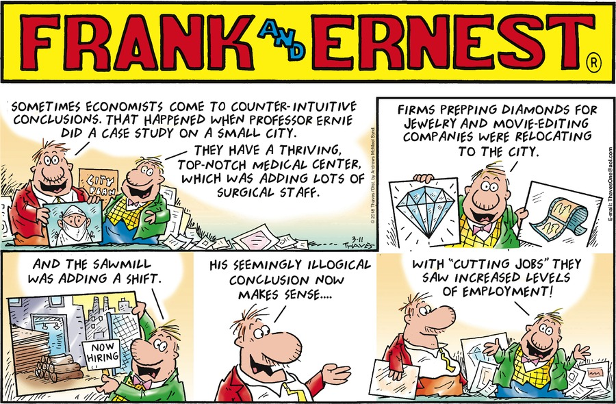 Frank and Ernest for Mar 11, 2018 Comic Strip