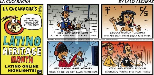 La Cucaracha - Sunday October 6, 2019 Comic Strip